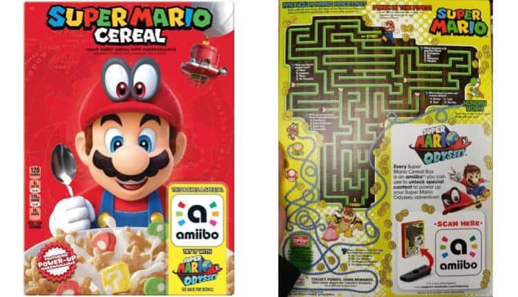 Kellogg's Super Mario Cereal Includes Amiibo Sticker