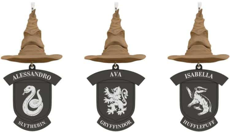 Personalized Sorting Hat Ornament