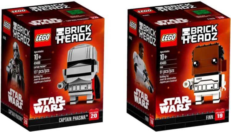 Star Wars Lego Brickheadz Captain Phasma And Finn Nerd Much