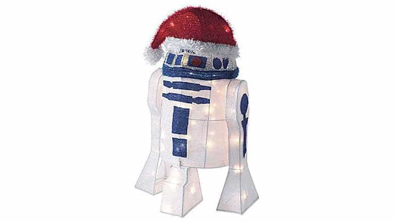 r2-d2 with santa hat
