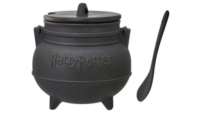 Harry Potter Black Cauldron Ceramic Soup Mug with Spoon – $24.99