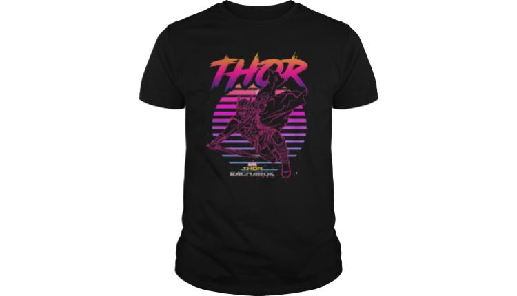 8b6270fb065 Marvel Thor Ragnarok 80s Retro Sunset Halftone Hero T-Shirt –  19.99