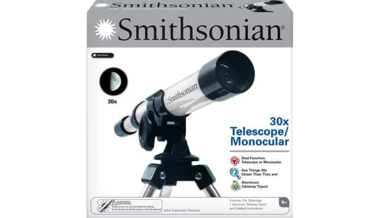 Smithsonian 30X Telescope/ Monocular Kit – $28.80