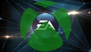 The EA logo overlaid with the Xbox logo.