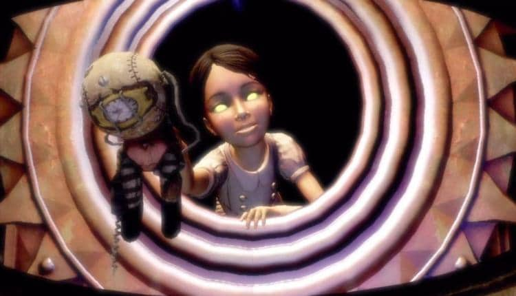 An image from the end cutscene of BioShock 2