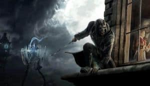 A promotional image for Dishonored