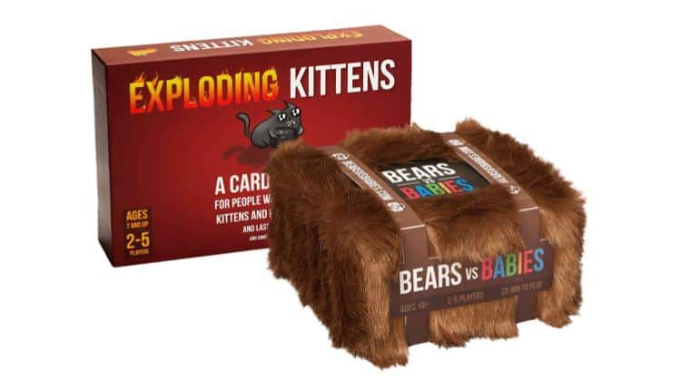 Exploding Kittens Game Night Set
