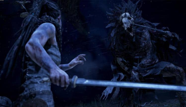 A screenshot of combat in Hellblade Senuas Sacrifice