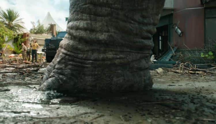 A screenshot from one of the Jurassic World 3 trailers
