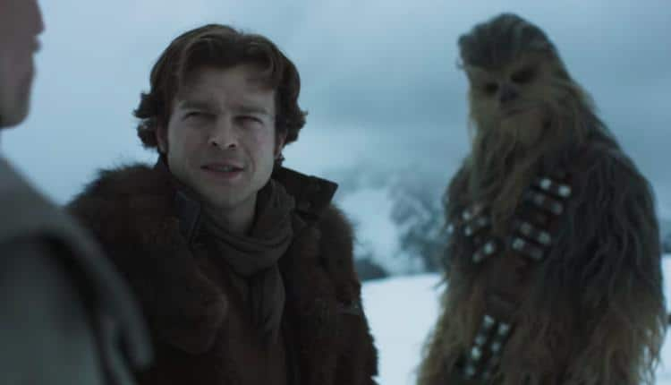 A screen from the first official trailer of Solo A Star Wars Story