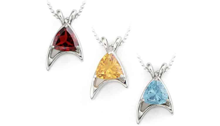 Star Trek Starfleet Trillion Necklace