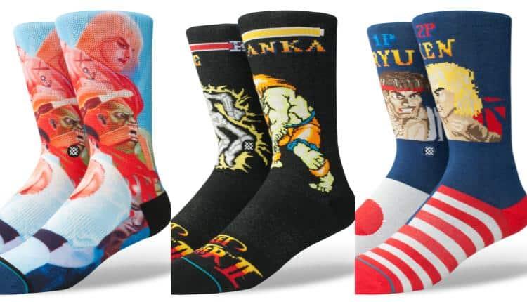 Street Fighter 2, Ken vs Ryu, and Guile vs Blanka Socks