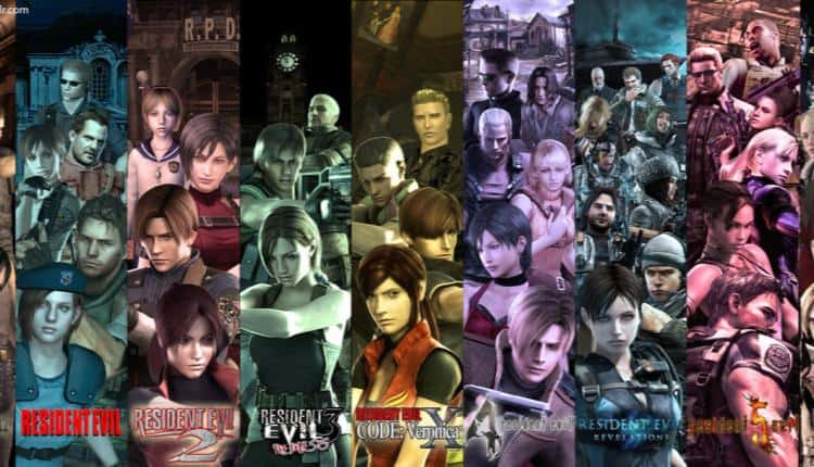 A collage of images from the Resident Evil series