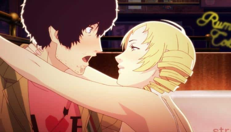 An image from a cutscene in Catherine