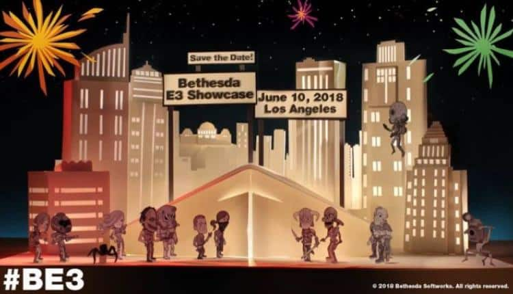 Invite image for Bethesda E3 2018 press conference time and date