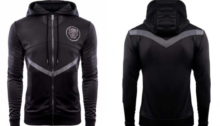 front and back images of the Black Panther: The Mantle Of King Zip Hoodie