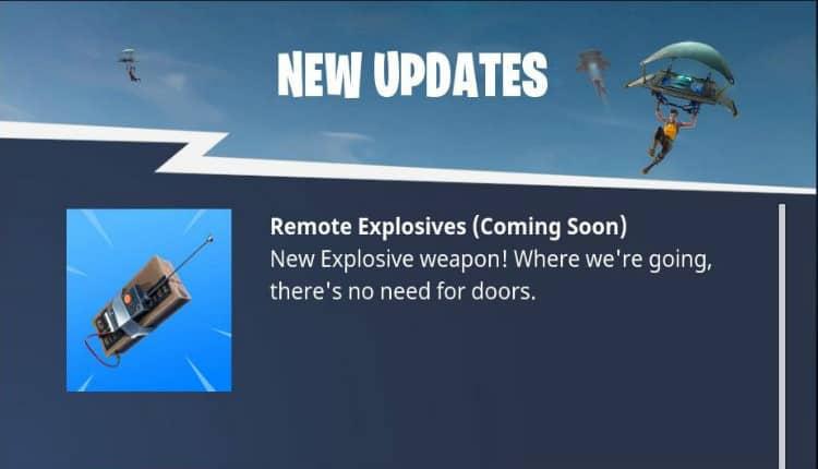 Fortnite - Remote Explosives
