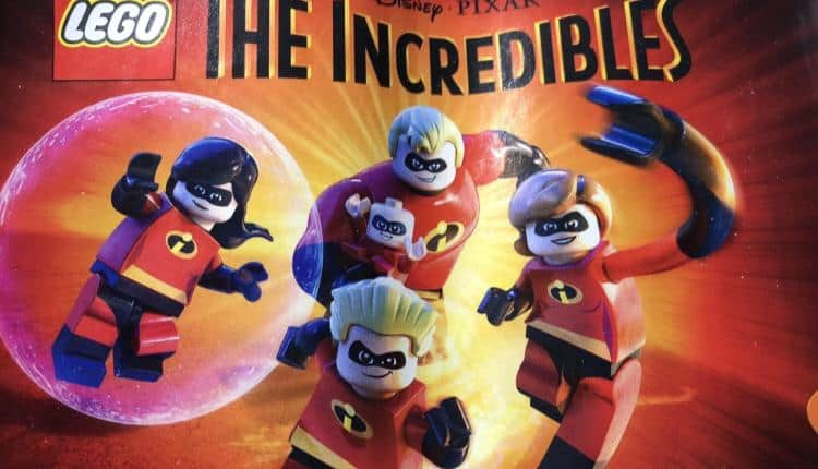 LEGO toy packaging the confirms LEGO The Incredibles video game