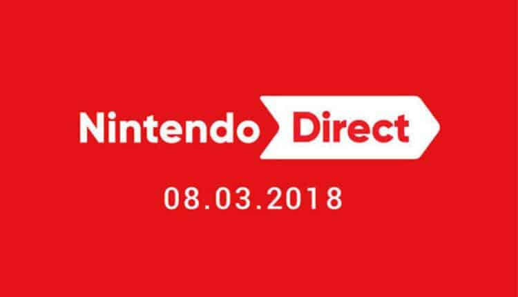 Promotional image for the Nintendo Direct on March 8 2018