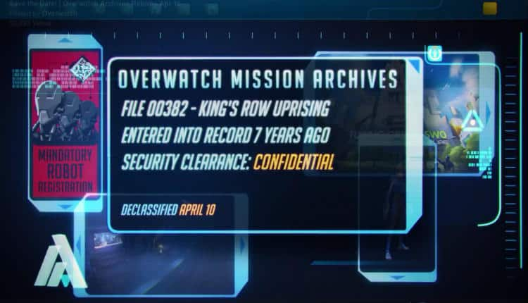 """Blizzard has begun teasing the return of Overwatch Uprising. Details are """"declassified"""" in April."""