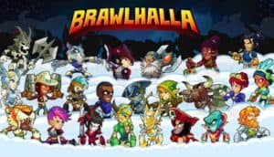 Cover art for Blue Mammoth game Brawlhalla