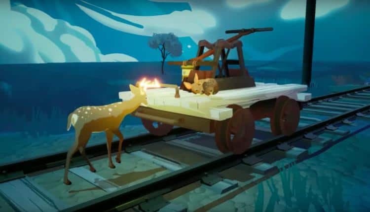 A screenshot of Way To The Woods gameplay in the announcement trailer
