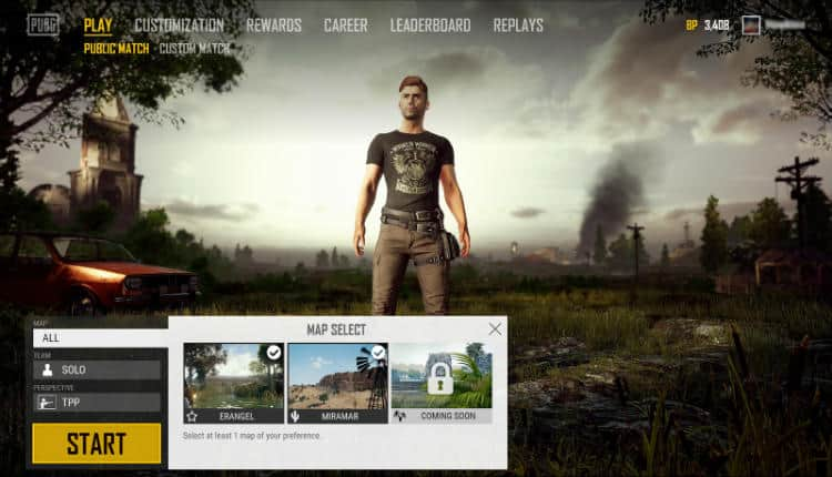 "PUBG Corp. has announced that a map selection feature is coming to PUBG ""soon""."