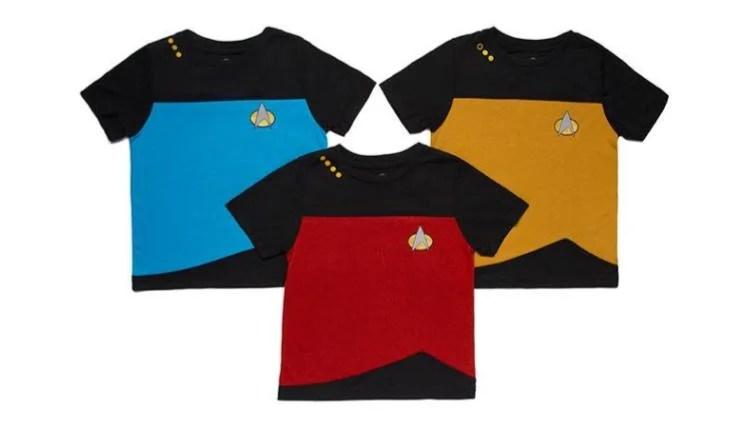 Star Trek TNG Unifrom Toddler Shirts