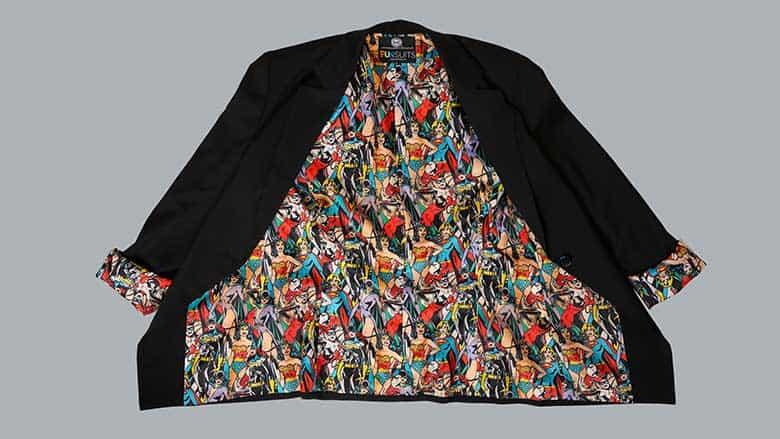 DC Comics vintage print blazer