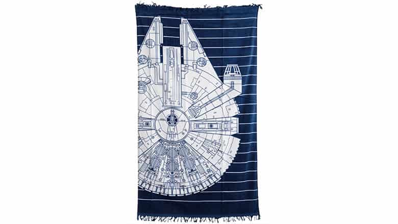 18. Millennium Falcon Striped Beach Towel