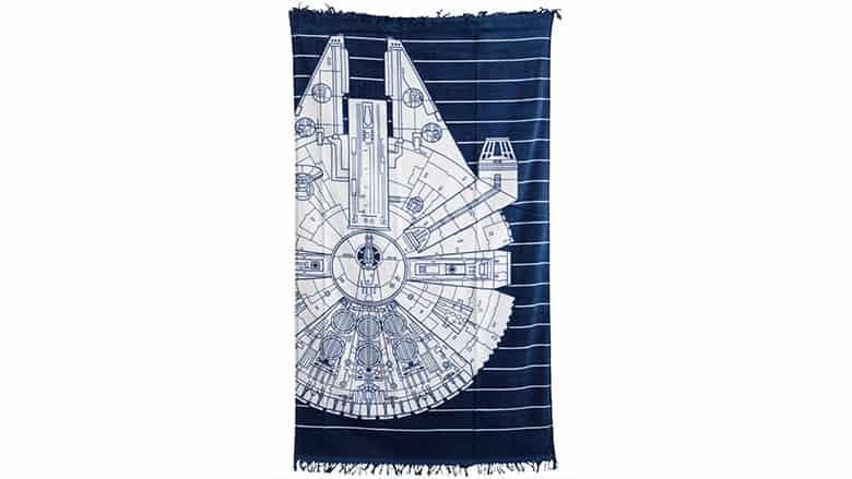 18. Millennium Falcon Striped Beach Towel