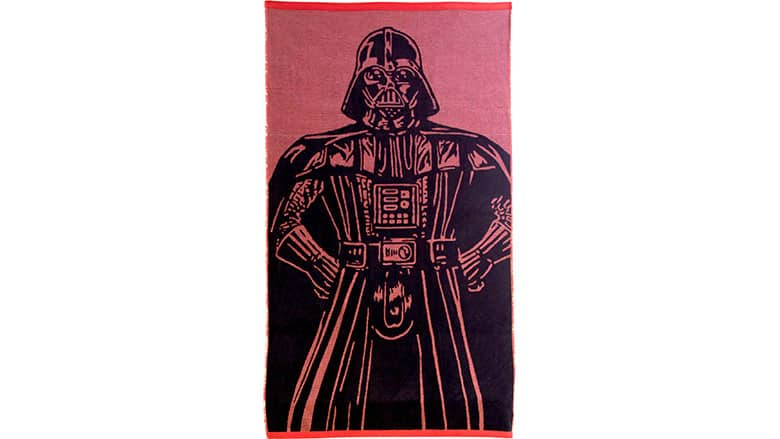 20. Darth Vader Striped Beach Towel