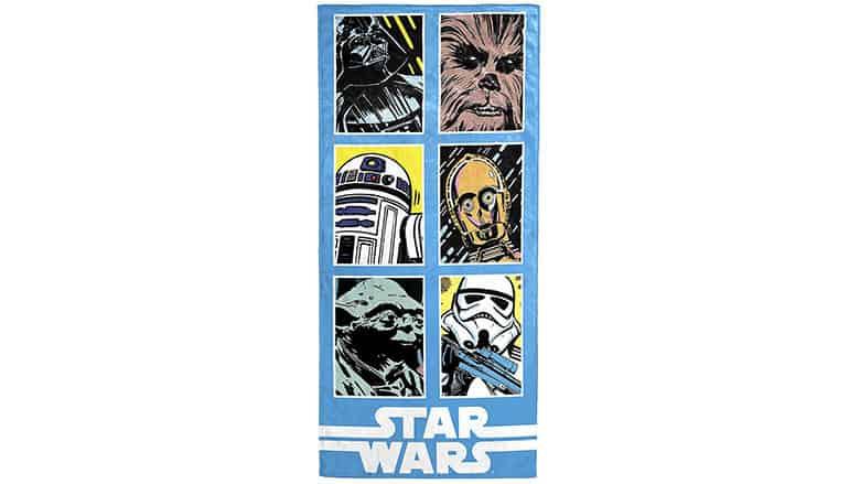 9. Classic Grid Star Wars Towel