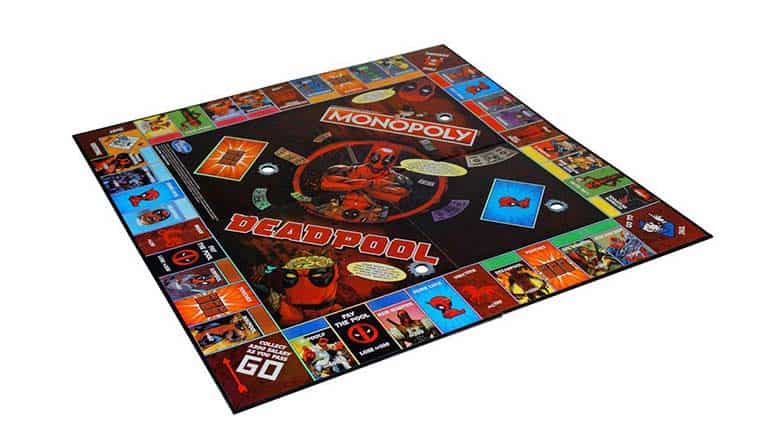 deadpool monopoly collector's edition board