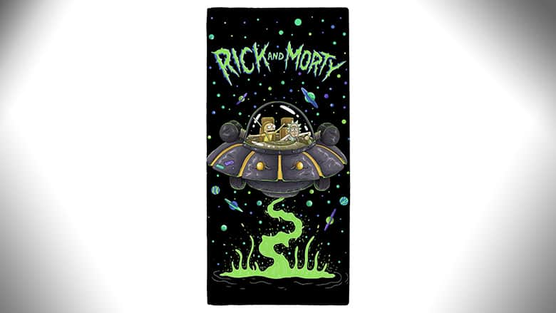 rick and morty beach towel