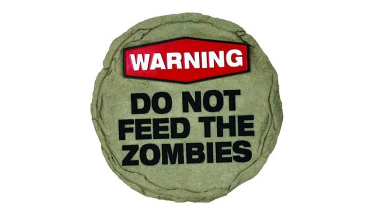 do not feed the zombies stepping stone