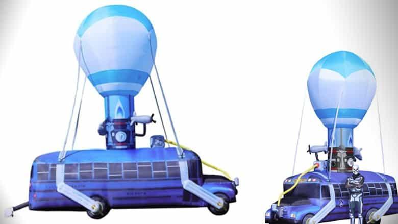 fortnite battle bus inflatable