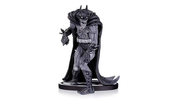 zombie batman black and white statue