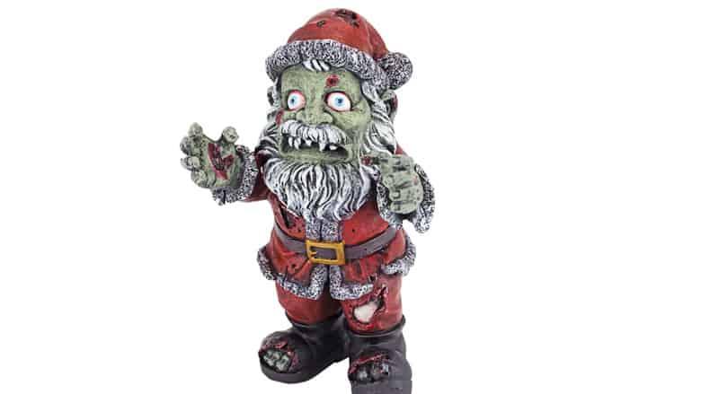 zombie claus figurine