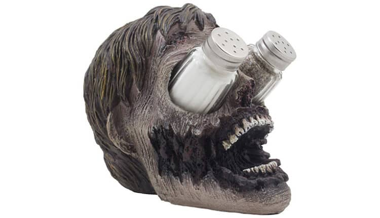 zombie head salt and pepper shaker