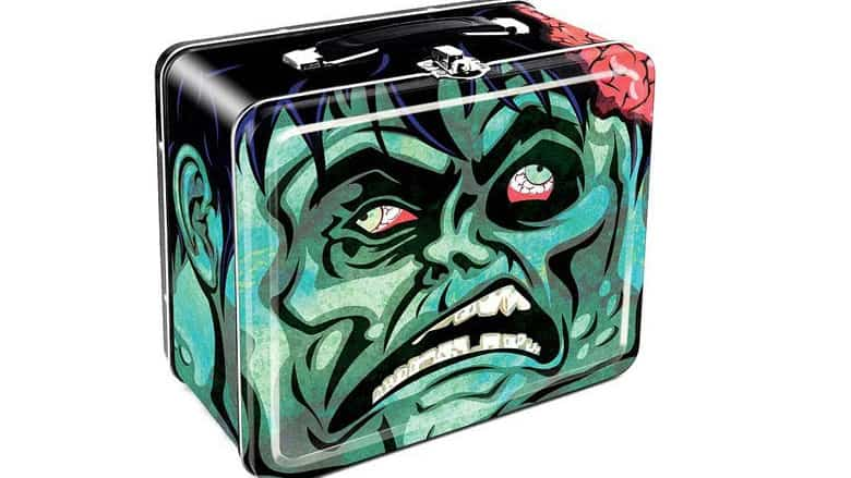 zombie head tin tote