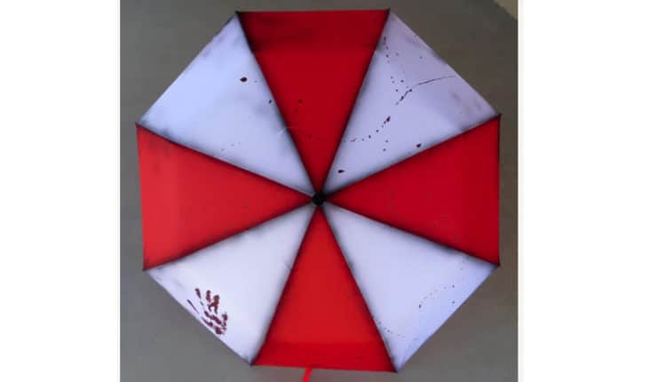 Zombie Red & White Umbrella