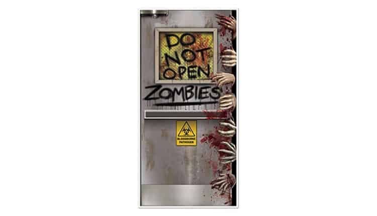 zombies inside door