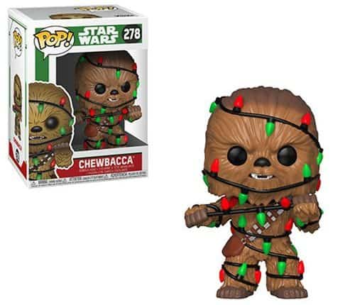 Chewbacca wrapped in lights