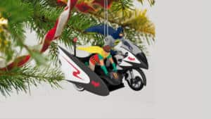 Batman Batcycle Christmas Ornament