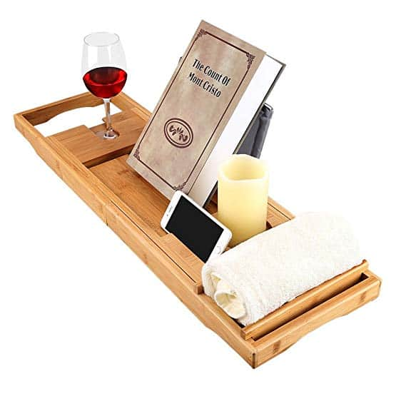 LANGRIA Bamboo Bathtub Caddy