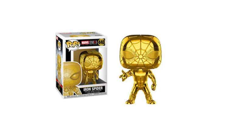 FunKo Marvel Studios: The First Ten Years Pop! Gold Chrome Iron Spider Bobble-Head