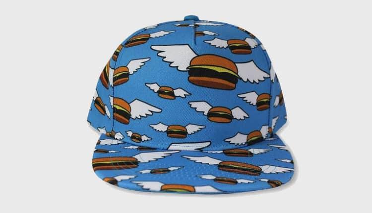 Burgers Flat Brim Hat