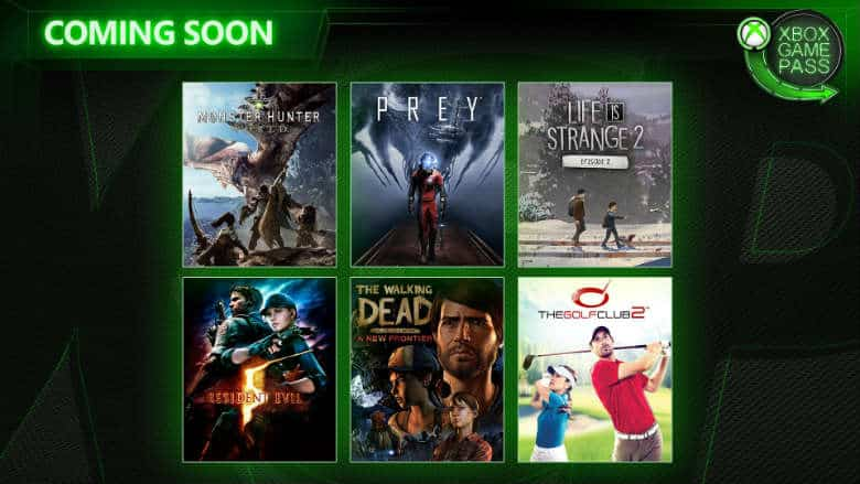 Xbox Game Pass April