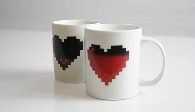 Pixel Heart Heat Changing Mug – $11.99